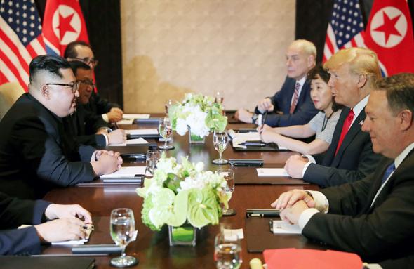 מפגש דולנד טראמפ ו קים ג'ונג און ב סינגפור 3, צילום: רויטרס