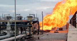 פיצוץ בצינור הגז המצרי ב-2011, צילום: אי פי איי
