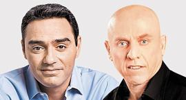 """מימין: יוסי ורשבסקי מנכ""""ל ערוץ 10 ו בי צבי לשעבר מנכ""""ל רשת, צילומים: אלדד רפאלי, ינאי יחיאל"""