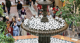 כדורגל מזרקה ב מוסקבה מונדיאל, צילום: בלומברג