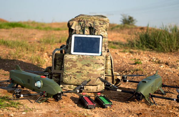 "IAI's ""Rotem"" suicide drone. Photo: IAI"