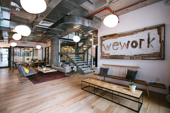 WeWork co-working space. Photo: WeWork