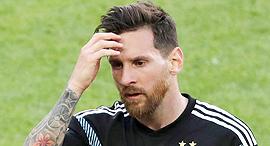 ליאו מסי במשחק המונדיאל ארגנטינה נגד איסלנד , צילוםף אי פי איי