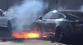 המכונית שנשרפה, צלום: טוויטר