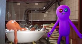 האיש באמבטיה התחשמל, צילום מסך מיוטיוב