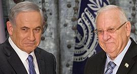 מימין נשיא המדינה ראובן ריבלין וראש הממשלה בנימין נתניהו, צילום: איי פי