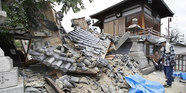 יפן: הרוגים ומאות פצועים ברעידת אדמה