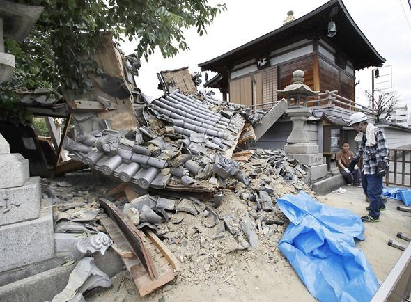 בית שהתמוטט ברעידת האדמה, צילום: רויטרס