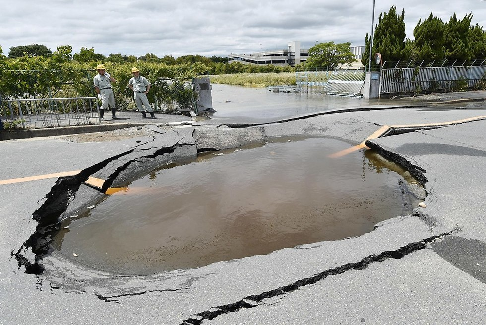 נזקי רעידת האדמה ביפן, צילום: רויטרס