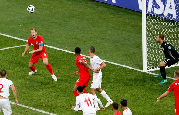 משחק המונדיאל של אנגליה מול טוניסה, אמש, צילום: אי פי איי