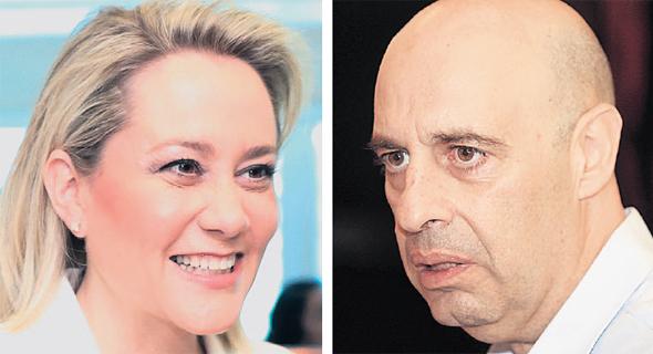 """מימין: מנכ""""ל אינטרנט זהב דורון תורג'מן ומנכ""""לית דיסקונט לילך אשר טופילסקי"""