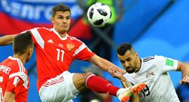 שחקני רוסיה חוגגים במונדיאל 2018, צילום: רויטרס