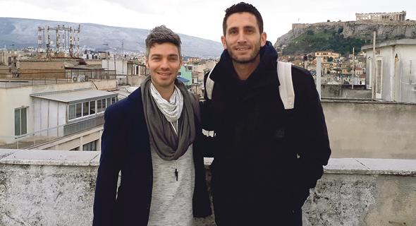 Israeli entrepreneurs Tohar Haimovich (left) and Tomer Shuv. Photo: Jonathan Shahar