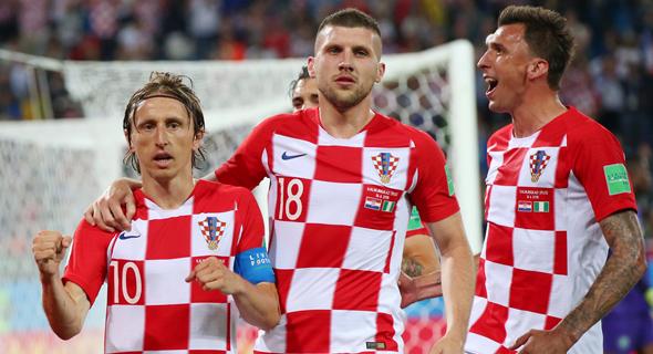 לוקה מודריץ' ושחקני נבחרת קרואטיה במונדיאל 2018