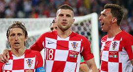 לוקה מודריץ' ושחקני נבחרת קרואטיה מונדיאל 2018, צילום: גטי אימג'ס