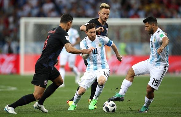 מסי במשחק מול קרואטיה