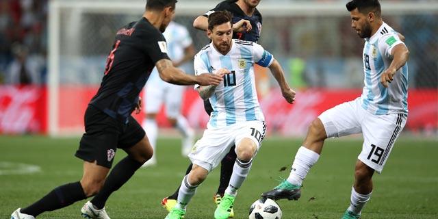 מסי במשחק מול קרואטיה, צילום: גטי אימג