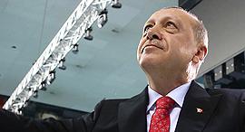 נשיא טורקיה רג'פ טאיפ ארדואן 23.6.18, צילום: איי פי