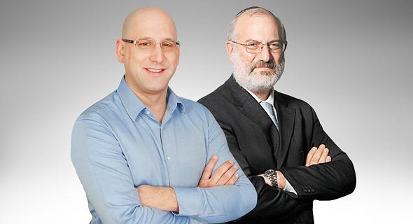"""מימין: בעל השליטה אלשטיין והמנכ""""ל שטרן"""