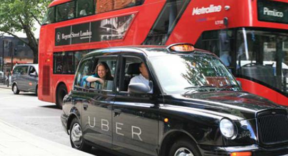 מוניות אובר (Uber). לונדון., צילום: .the memo