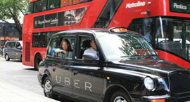 מונית אובר בלונדון, צילום: .the memo