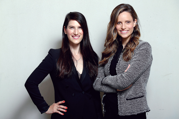 iAngels founders Mor Assis (left), Shelly Hod Moyal (right). Photo: Amit Sha'al