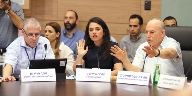 שרת המשפטים איילת שקד בדיון, צילום: עמית שאבי