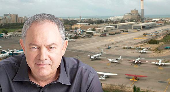 מהנדס העיר תל אביב עודד גבולי על רקע שדה דב
