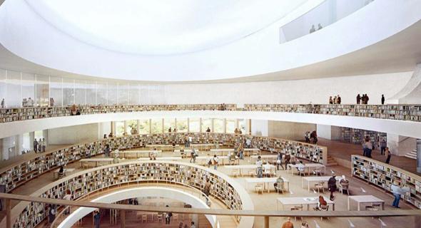 הדמיית הספרייה הלאומית