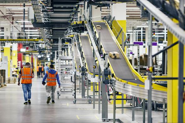 An Amazon distribution center in Poland. Photo: AP