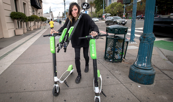 Lime scooters. Photo: Bloomberg