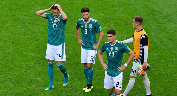 נבחרת גרמניה. הדחה ראשונה בשלב הבתים מאז שנת 1938, צילום: אי אף פי