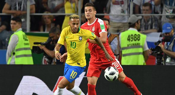 ניימאר. נגע הכי הרבה פעמים בכדור בנבחרת ברזיל