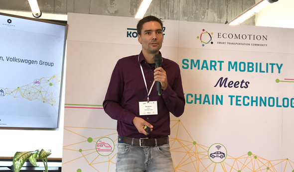 Benjamin Sinram, head of blockchain at Volkswagen. Photo: Asaf Shalev