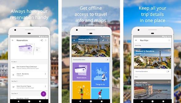 Google Trips, צילום: חנות האפליקציות של גוגל