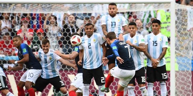 מונדיאל: צרפת הדיחה את ארגנטינה אחרי 3:4 מטורף