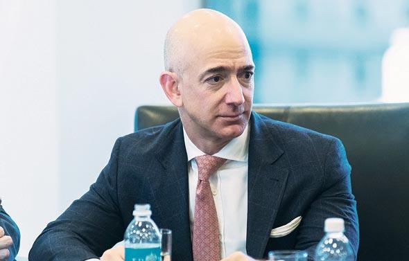 """מנכ""""ל ומייסד אמזון ג'ף בזוס, צילום: בלומברג"""
