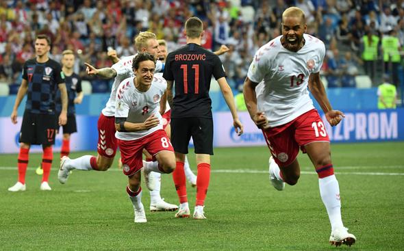 נבחרת דנמרק בכדורגל, צילום: DIMITAR DILKOFF