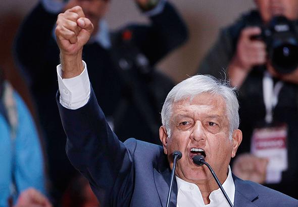 נשיא מקסיקו אנדרס מנואל לופס אוברדור , צילום: איי פי