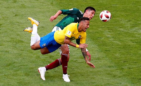 ברזיל נגד מקסיקו ניימאר מונדיאל 2018, צילום: רויטרס