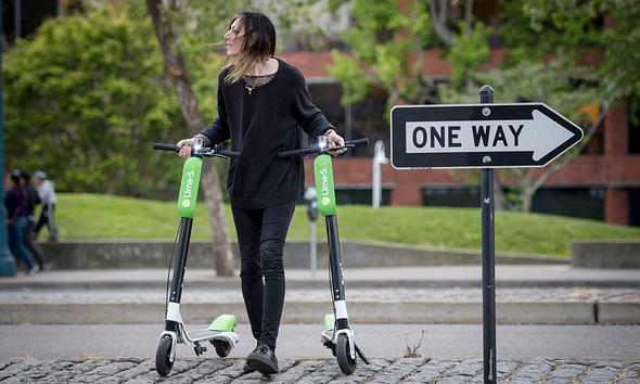 Lime e-scooters. Photo: Bloomberg