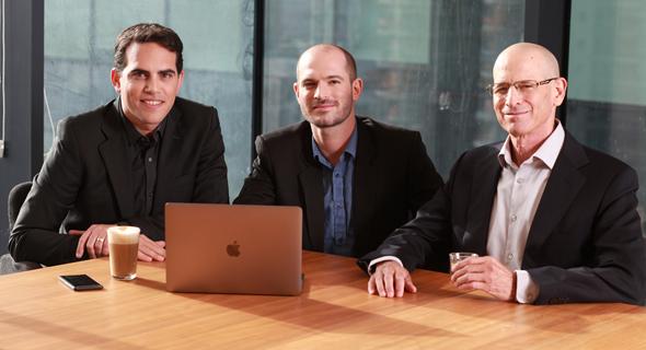 אלעד צור, אמיר כהן ודיוויד שפירו, מייסדי החברה, צילום: Ilan Besor
