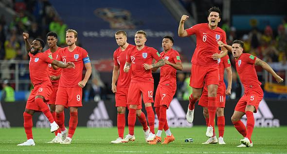 שחקני נבחרת אנגליה במשחק אתמול, צילום: גטי אימג