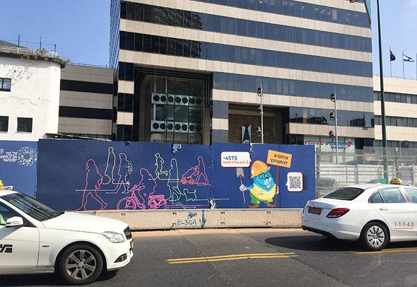 הסדרי התנועה לרגלי מגדל לוינשטין בתל אביב