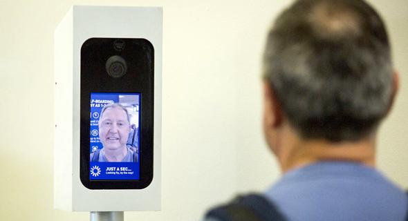 מערכת זיהוי פנים של ה-TSA בשדה תעופה אמריקאי, צילום: WBUR