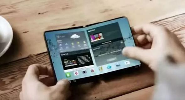 סמארטפון גמיש מתקפל LG, צילום: cnet