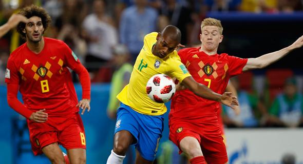 בלגיה נגד ברזיל. לברזילאים חסר הגיוון של הבלגים