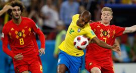 ברזיל בלגיה מונדיאל 2018, צילום: איי פי