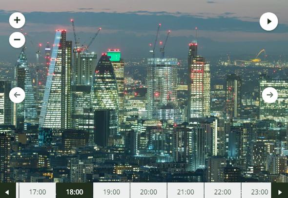 תצוגת לונדון ב-7.3 גיגה-פיקסל