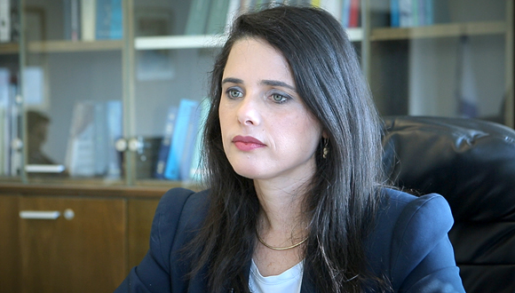 Israel's Minister of Justice Ayelet Shaked. Photo: Tal Azulay